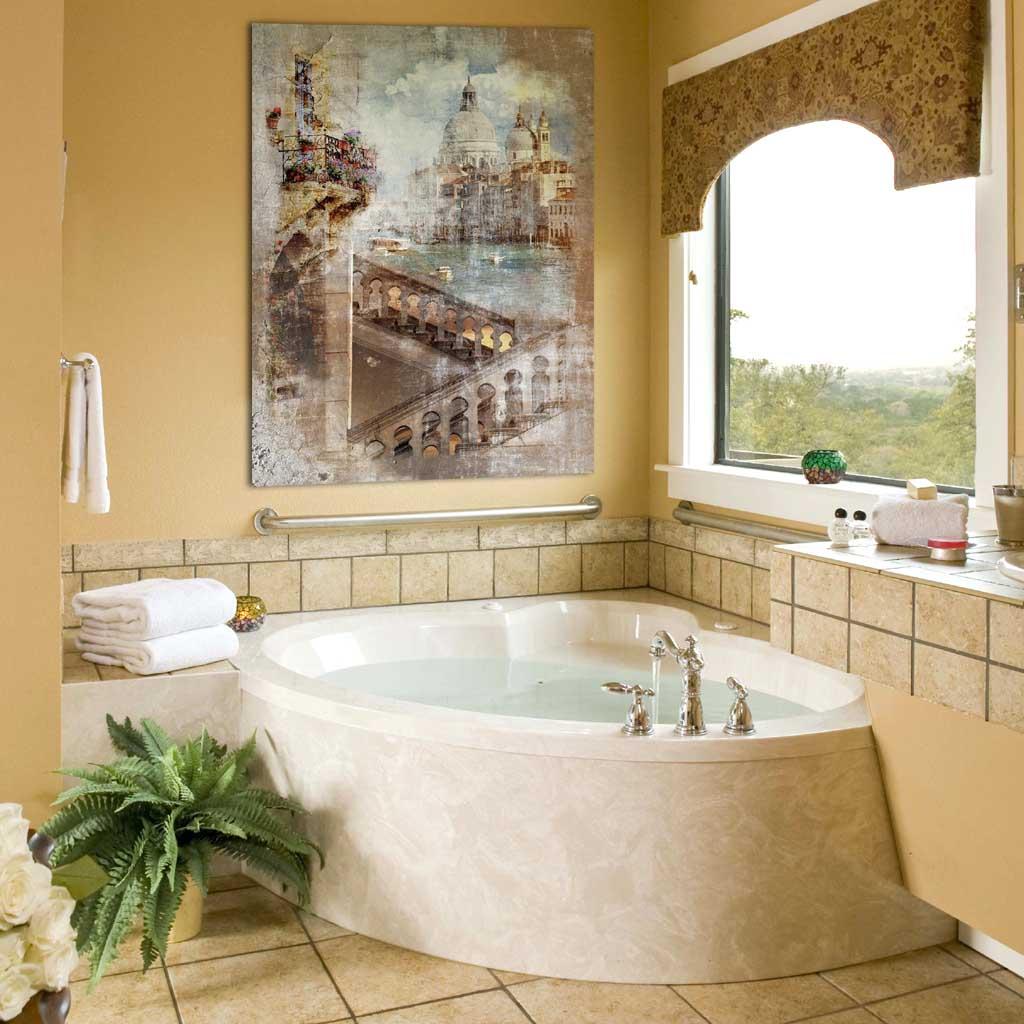 фреска в ванной комнате