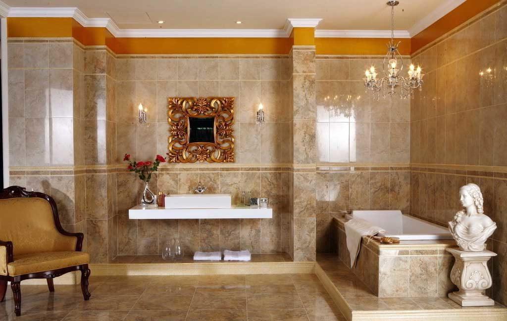 мраморная ванная в марокканском стиле
