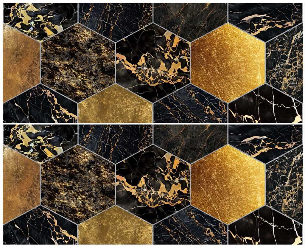 Керамический декор «Черный мрамор»